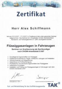 Zertifikat DVGW-G607