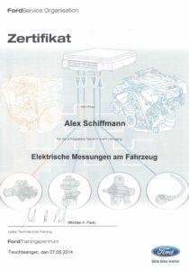 Zertifikat Elektrische-Messungen-an-Fahrzeugen