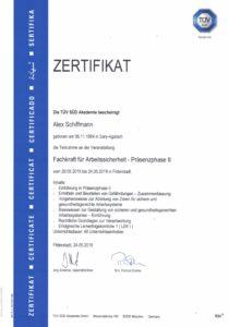 Zertifikat Fachkraft für Arbeitssicherheit Präsenzphase II
