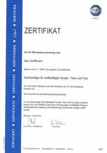 Zertifikat Fachkraft für Arbeitssicherheit Präsenzphase III