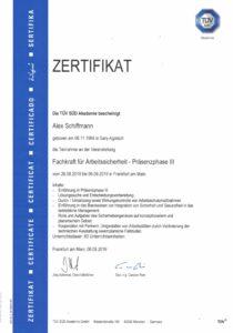 Zertifikat Sachkundiger für Kraftbetätigte Fenster-Türen-und-Tore